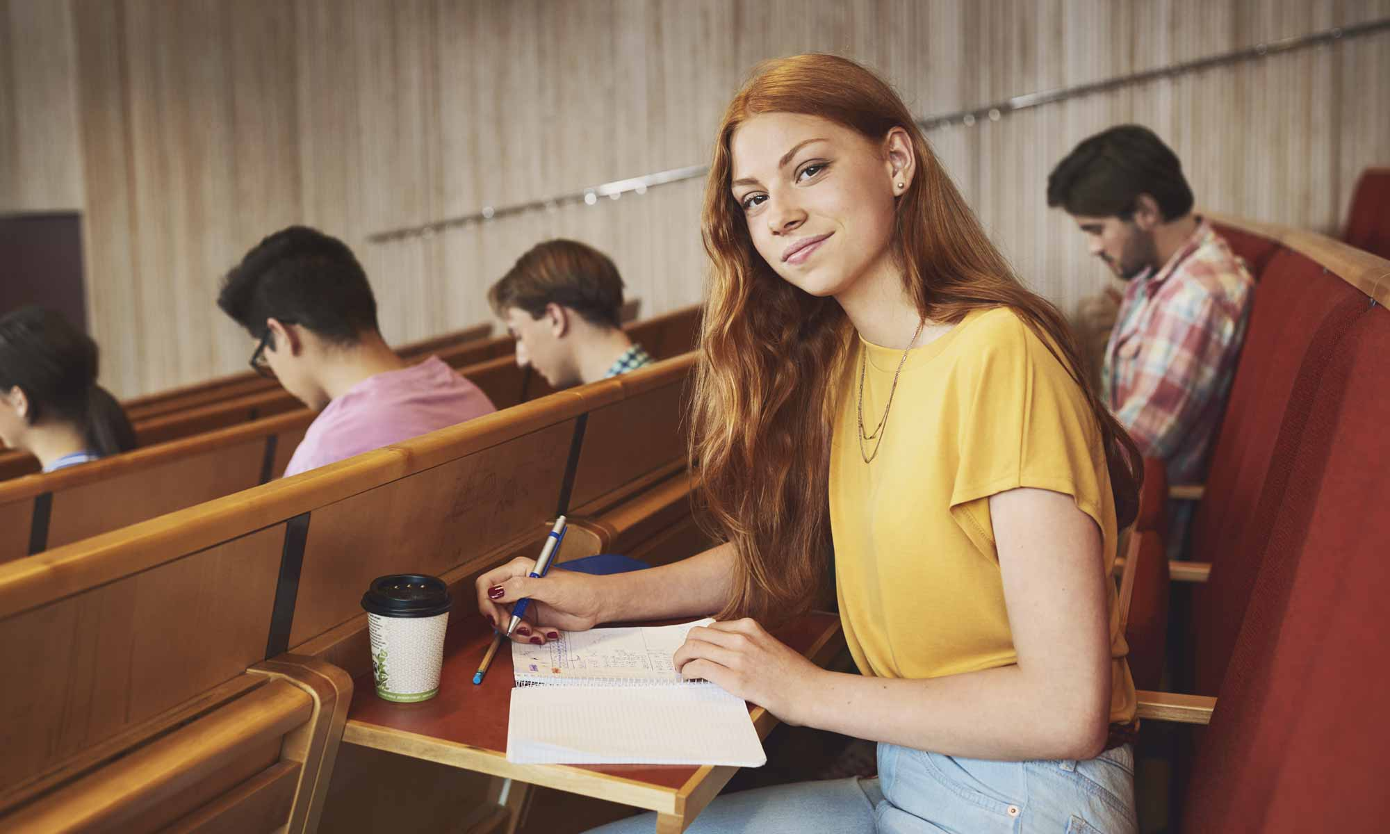 Female student in auditorium